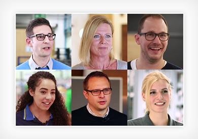Mitarbeiterbilder Collage