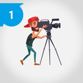 Filmproduktion vor Ort