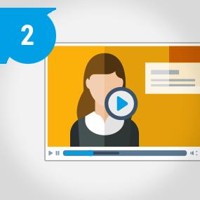 Programmierte Video-Stellenanzeige